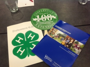 I tweet everything! Here I tweeted that branding is everything. Our college, Extension and 4-H are all one!