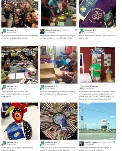 Grid layout of Storify. Courtesy of Delaware 4-H